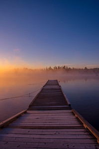 Misty Dock, Wilson's Camps, Moosehead Lake, Maine Vertical