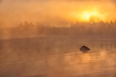 Golden Mist on Moosehead Lake, Maine 2