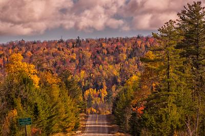 Moosehead Area Road and Foliage, Maine