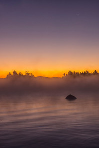 Misty Morning at Wilson's Camp, Moosehead Lake, Maine