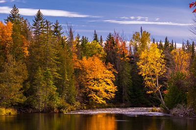 Somerset Road View of the Piscataquis River, Greenville area, Maine