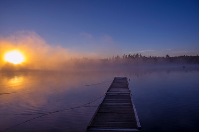 Misty Dock, Wilson's Camp, Moosehead Lake, Maine