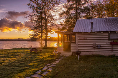 Driftwood Cabin at Dawn, Wilson's on Moosehead Lake, Maine