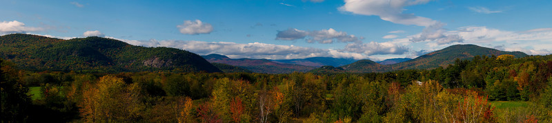 North Conway, New Hampshire Mountain Lookout, Autumn<br /> 13 image panorama.  All panoramas are printed on glossy Kodak metallic paper. Matting option not available. All panoramas $100.00 plus S&H.