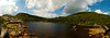 Tumbledown Mountain Pond and Summit panorama.  <br /> Hover cursor over photo to be offered the menu to enlarge and see it in its fuller size.  All panoramas are $100.00, unmatted.  Matted option not available.