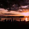 Sunset People<br /> Sebago Lake at sunset.