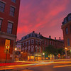 The Old Port looking towards Exchange Street at sunset<br /> HDR