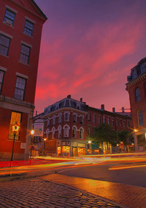 The Old Port looking towards Exchange Street at sunset HDR