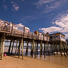 Old Orchard Beach Pier on a late summer day.  Old Orchard beach, Maine