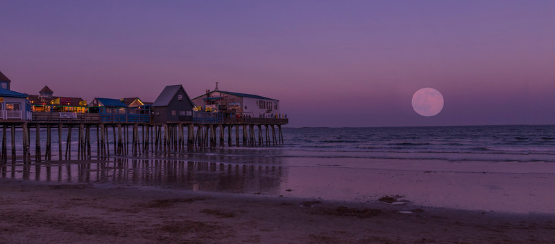 Full Moonrise on the Summer Solstice, Old Orchard Beach, Maine