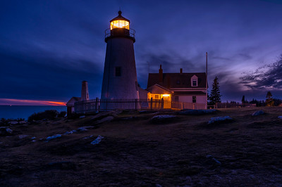 November Twilight, Pemaquid Point Light, Bristol, Maine