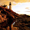 Reflection of Portland Headlight--Taken after a night of heavy rains, the sky was particularly saturated. This photo was the August 2008 cover of Portland Magazine.
