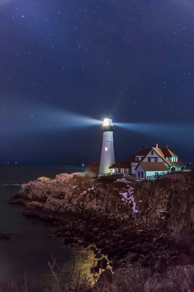 A Beacon in the Dark, Portland Head Light, Cape Elizabeth, Maine