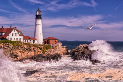 Portland Head Light Storm Surge Post Hurricane Jose, Cape Elizabeth, Maine
