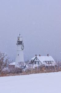 Snowstorm at Portland Head Light 2, Cape Elizabeth, ME