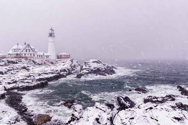 February Nor'easter, Portland Head Light, Cape Elizabeth, Maine