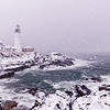 February Nor'easter, Portland Head Light, Cape Elizabeth, Maine