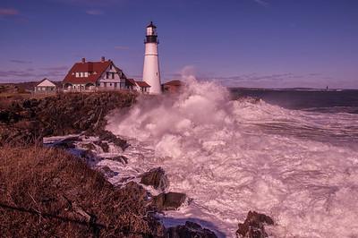 Storm Waves at Portland Head Light, Cape Elizabeth, Maine
