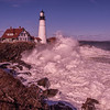 Storm Waves at Portland Head Light, Cape Elizabeth, Maine