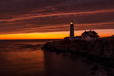 Majestic Pre-Dawn Light, Portland Head Light, Cape Elizabeth, ME