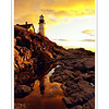 Reflection--Taken at Portland Headlight after a night of intense rain, the skies were particularly saturated at dawn.  This photo was published on the cover of Portland Magazine's August 2008 issue.
