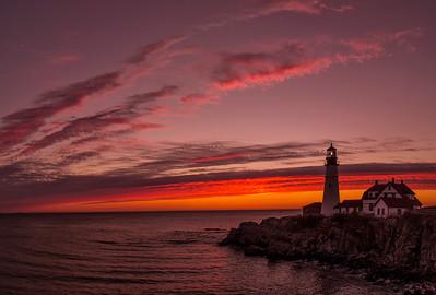 Ablaze, Portland Head Light, Cape Elizabeth, Maine
