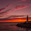 Ablaze, Portland Head Light, Cape Elizabeth, Maine