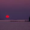 Sun just rising at Ram Island Light, Cape Elizabeth, ME