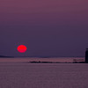 Sun just rising at Ram Island Light, Cape Elizabeth, ME