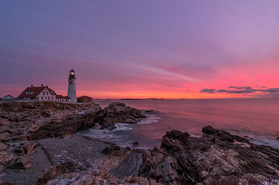 January Sunrise at Portland Head Light