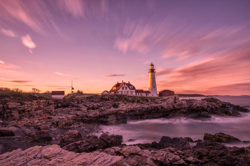 Portland Head Light Sunset ND10 2, Cape Elizabeth, Maine