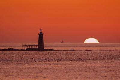 September Sunrise, Ram Island Light, Cape Elizabeth, Maine