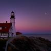 Portland Head Light November Moonrise