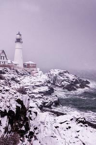 February Nor'easter, Portland Head Light, Cape Elizabeth, Maine 3