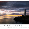 First Light at Portland Headlight--Portland Headlight panoramic poster--This panorama was taken in May 2008 on a gorgeous morning during sunrise. Make sure when you order any panoramic posters to check the NO CROPPING option as they guide you through the order process.