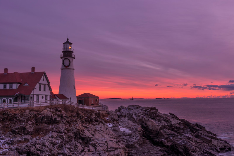 January Sunrise at Portland Head Light 2