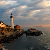 Saturated Sunrise at Portland Headlight--Taken in late September 2007.