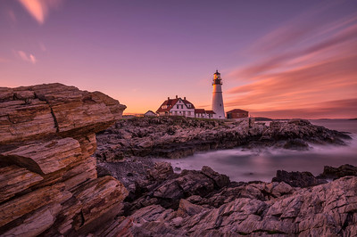 Portland Head Light Sunset ND10, Cape Elizabeth, Maine