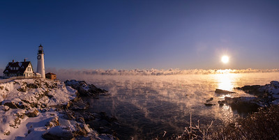 New Year's Day Sea Mist Panorama