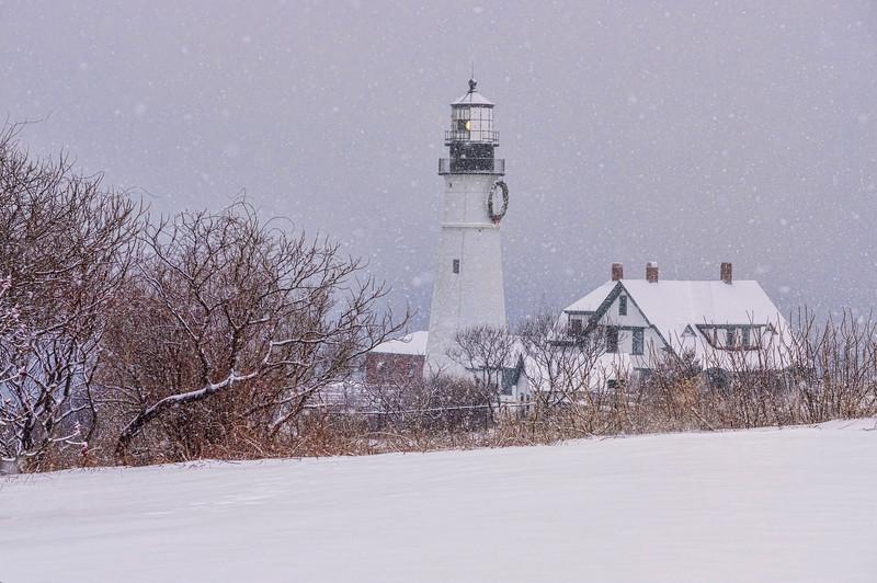 Snowstorm at Portland Head Light, Cape Elizabeth, ME