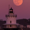 January Full Moon Spring Point Ledge Light 4, South Portland, Maine