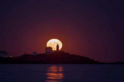 "November 2016 Super ""Super Moon"", Nubble Light, York, Maine 4"