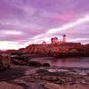 Nubble Light at Sunset, York, ME