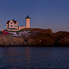Full Moon over Nubble Light, York, Maine.