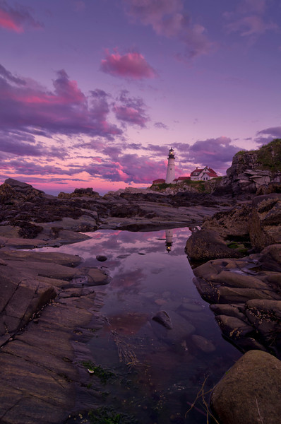 September Sunset 1, Portland Head Light, Cape Elizabeth, Maine.