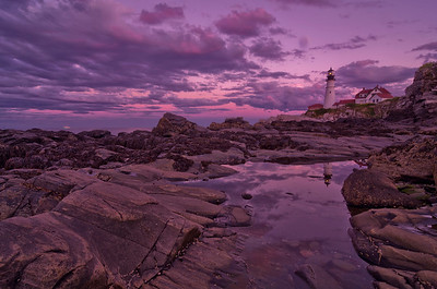 September Sunset 2, Portland Head Light, Cape Elizabeth, Maine.