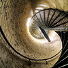 Inside Portland Head Light<br /> Cape Elizabeth, Maine<br /> The elegant, winding, spiral staircase that leads up to a stunning panoramic view of Cape Elizabeth and the Atlantic Ocean.