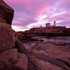 Nubble Light, York, Maine at sunset