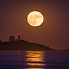 Supermoon November 2016, Nubble Light, York, Maine 5