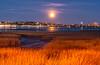 Harvest Moon over the Boulevard mini-panorama, Portland, Maine